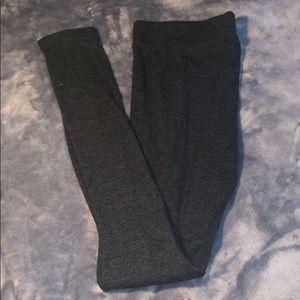 Mossimo gray ribbed high waisted leggings